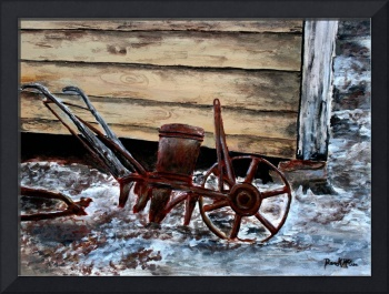 old farm plow antique art