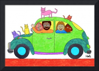 My little car and my friends
