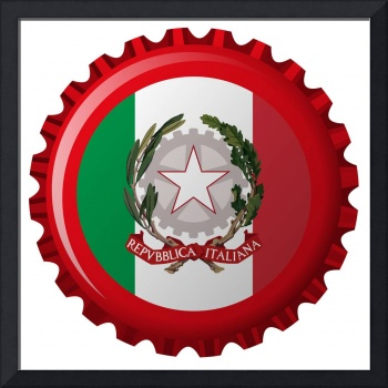 italy abstract flag on bottle cap