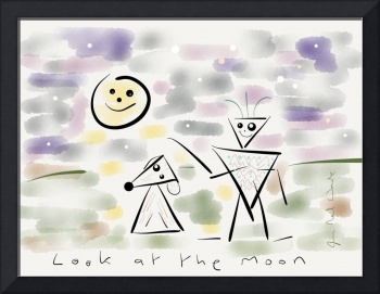 Look at the moon