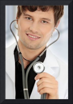 Handsome young doctor.