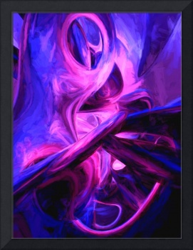 Fluorescent Passions Painted Abstract