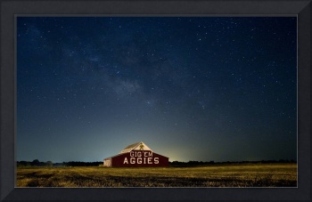 The Milky Way and the Aggie Barn