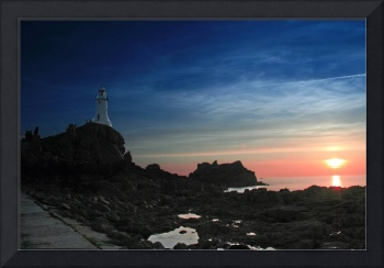 Corbiere Lighthouse at Sunset in Jersey
