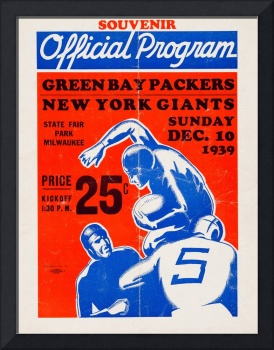 1939 NFL Championship Game Program - Packers Victo