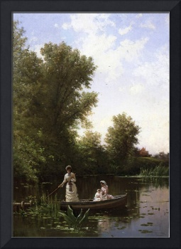 Alfred Thompson Bricher (1837-1908) Boating in the