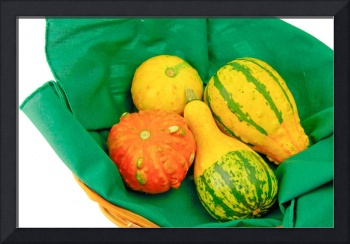 Still Life with colored gourds