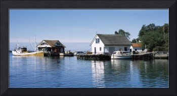 Fishing boats on a port Tau Norway