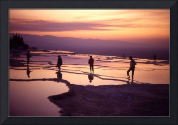 Sunset at Pamukkale, Turkey