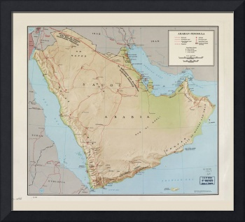 Arabian Peninsula Map (1969)