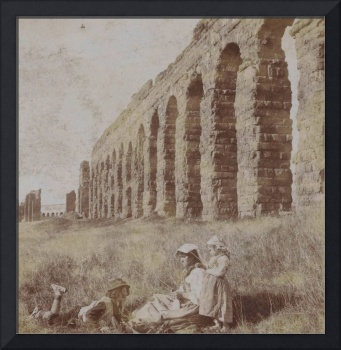 Aqua Claudia outside Rome, with in the foreground