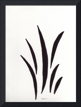 Zen Sumi 1a Black Ink on White Watercolor Paper