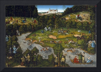 Hunting near Hartenfels Castle by Lucas Cranach