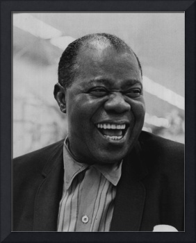 Louis Armstrong smiles broadly