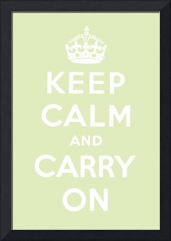 Green Keep Calm And Carry On 7