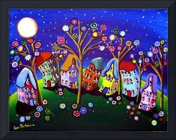 Whimsical Trees and Houses