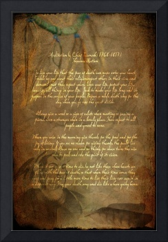 Chief Tecumseh Poem Attribution