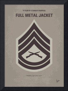 No030 My Full Metal Jacket minimal movie poster