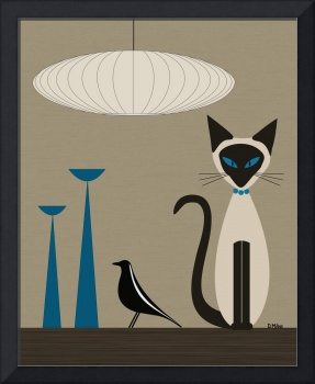 Siamese with Eames House Bird