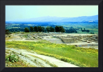 Remains of the Minoan Palace, Phaistos, Crete 1960