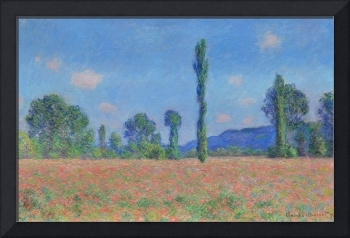 Poppy Field, Giverny by Claude Monet