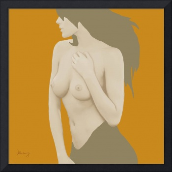 Pop art nude etching poster