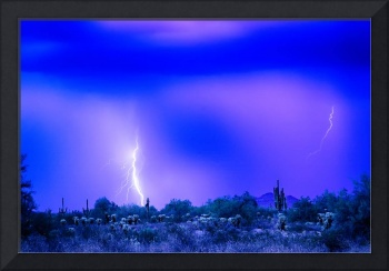 Arizona Blue Hour Desert Storm