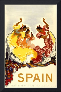 Madrid, Spain Vintage Travel Poster