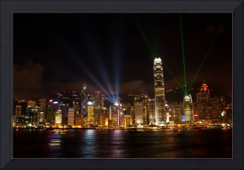 Light show at Victoria Harbour, Hong Kong