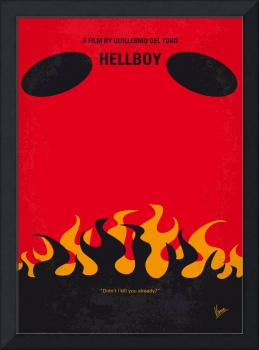 No131 My HELLBOY minimal movie poster