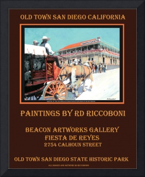 RD Riccoboni Old Town San Diego Poster