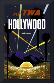 Vintage Hollywood California Airline Travel