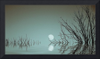 Dusk moon on the Water