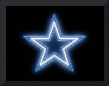 Cowboys Star Neon Sign