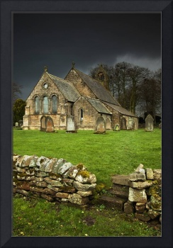 An Old Church Under A Dark Sky Northumberland, En