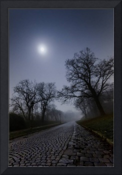 Road to Petrovaradin Fortress at Night