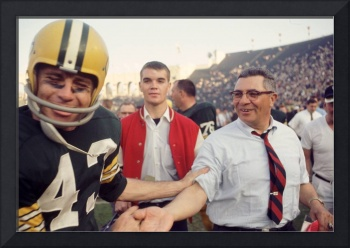 Vince Lombardi Shaking Hands
