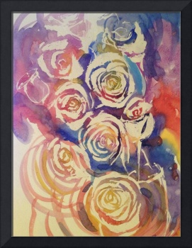 Abstract Rose Watercolor