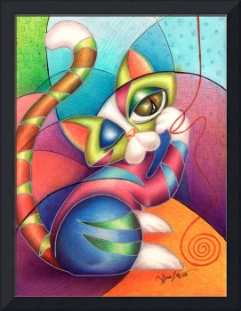 String Kitty, by Alma Lee, EBSQ