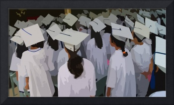 The Graduation. Vector Artwork