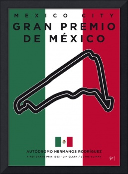 My F1 Mexico Race Track Minimal Poster