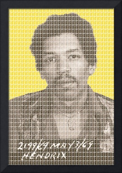 Jimi Hendrix Mug Shot - Yellow