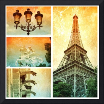 Drama of Paris Collage