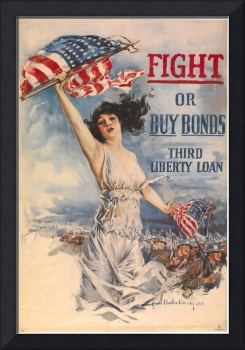 Howard Chandler Christy~Fight or buy bonds Third L