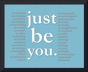 just be you (blue)