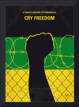 No1104 My Cry Freedom minimal movie poster