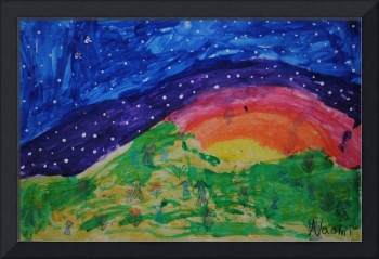 Abstract Starry Sky Landscape