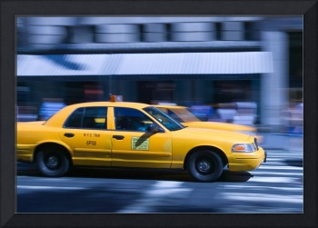 New York City Taxi In Motion