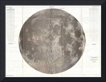 Vintage Map of The Moon (1961)