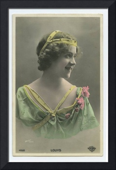 c 1910 Vintage French Theater Cabaret Cute Melle L